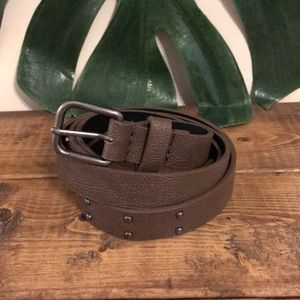 Accessories - Faux Leather Studded Skinny Belt
